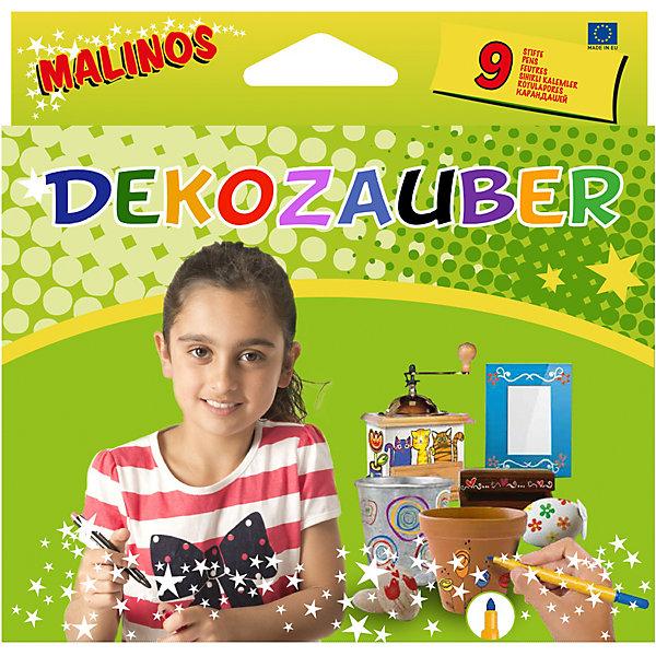 Картинка для Фломастеры для рисования по камню, керамике, стеклу, металлу и т.д. Malinos Deko Zauberstifte, 8+1