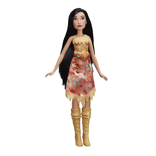 Кукла Disney Princess Покахонтас, 28 смКуклы модели<br>Характеристики товара:<br><br>• материал: пластик, текстиль<br>• высота куклы: 28 см<br>• упаковка: картонная коробка с блистером<br>• вес в упаковке: 144 г<br>• размер упаковки: 36х5х15<br>• страна бренда: США<br><br>Кукла обладает подвижными конечностями, что позволяет придавать ей различные позы и сделает игру более реалистичной. Волосы можно расчёсывать, создавая новые образы. Она одета в красивый наряд и обувь, которые можно снять. Лицо детально проработано. Изготовлена из качественных и безопасных материалов.