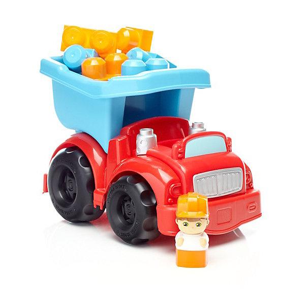 Купить Маленькая машинка Mega Bloks First Builders Строительный самосвал, Mattel, Китай, Мужской