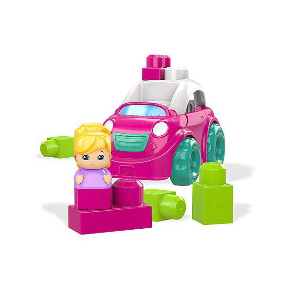 Купить Маленькая машинка Mega Bloks First Builders Розовый кабриолет, Mattel, Китай, Мужской