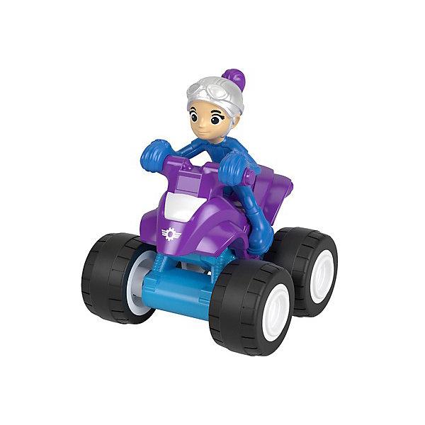Mattel Маленкая машинка Fisher Price Вспыш и чудо-машинки Гэбби на квадроцикле