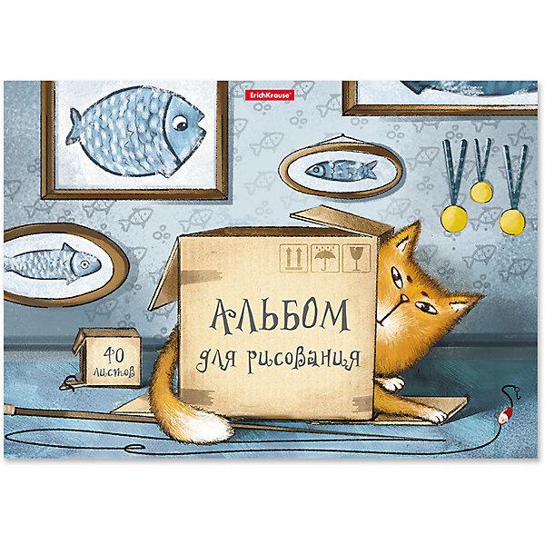 Erich Krause Альбом для рисования на клею Cat & Box А4, 40 листов