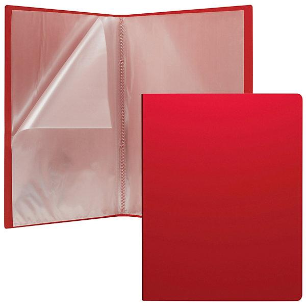 Erich Krause Пластиковая файловая папка Classic c 30 карманами, A4, красная