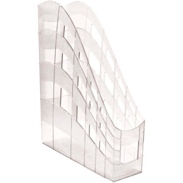 Купить Пластиковая подставка для бумаг ErichKrause S-Wing вертикальная, 75 мм, прозрачная, Erich Krause, Россия, разноцветный, Унисекс