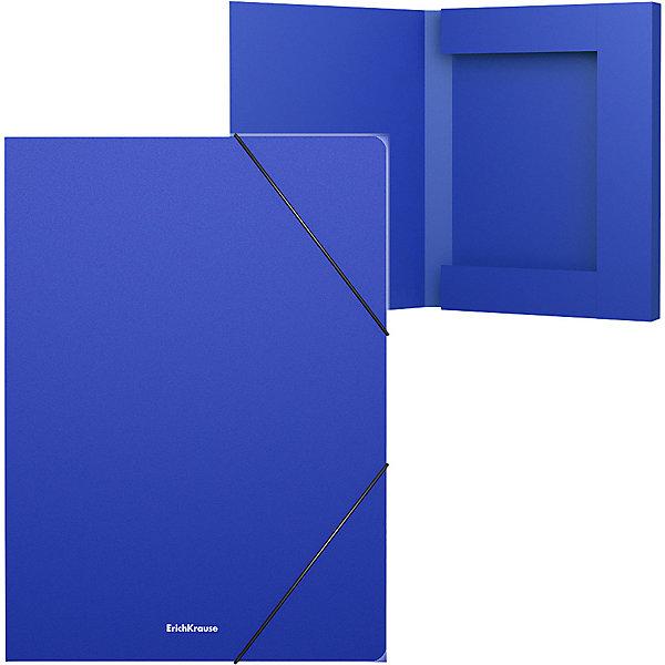 цена на Erich Krause Пластиковая папка на резинках Erich Krause Classic 30 мм, A4, синяя