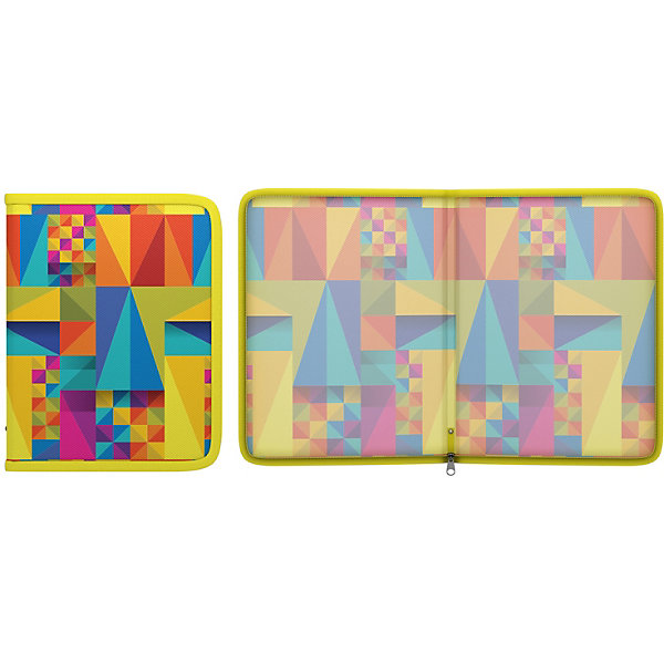 Erich Krause Пластиковая папка на молнии Erich Krause Arlecchino A5+, мульти erich krause папка на резинках arlecchino формат a5