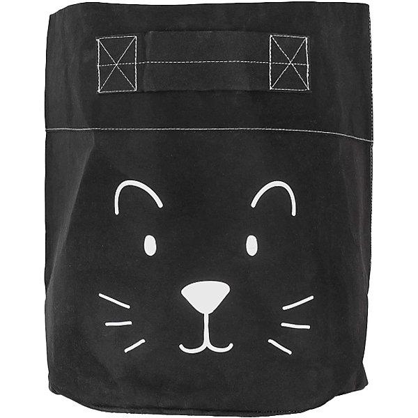 jollein Большая корзина Jollein чёрная, 35х30 см карманы и панно jollein настенный карман для мелочи