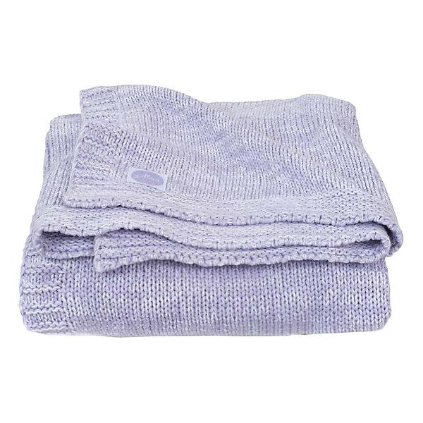 Jollein Вязаный плед Melange knit soft lilac, 75x100 см