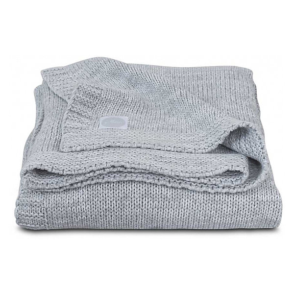 Jollein Вязаный плед Melange knit soft grey, 75х100 см