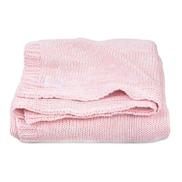 jollein Вязаный плед Jollein Melange knit soft pink, 75х100 см
