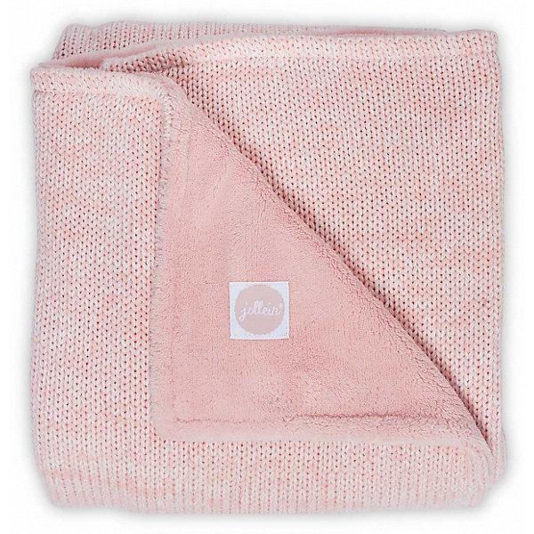 jollein Вязаный плед с мехом Jollein Melange knit soft pink, 75х100 см pink crossed front design reversible knit sweater