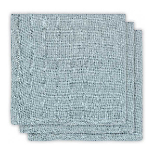 jollein Комплект салфеток Jollein 3 шт., серо-зелёные, 15х21 см мочалки jollein салфетки для купания 2 шт
