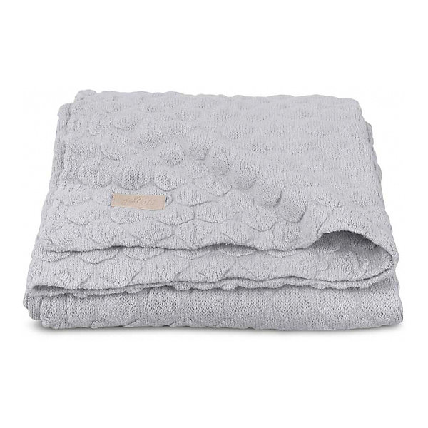 Jollein Вязаный плед Fancy knit soft grey, 75x100 см