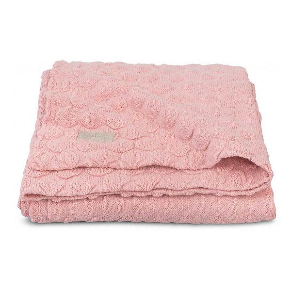 jollein Вязаный плед Jollein Fancy knit blush pink, 75х100 см pink crossed front design reversible knit sweater
