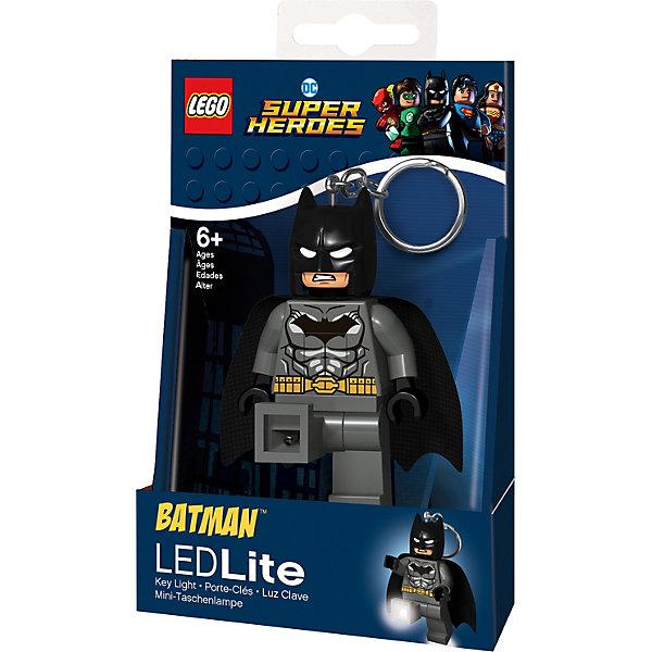 Купить Брелок-фонарик для ключей Lego DC Super Heroes: Grey Batman, Китай, серый, Мужской