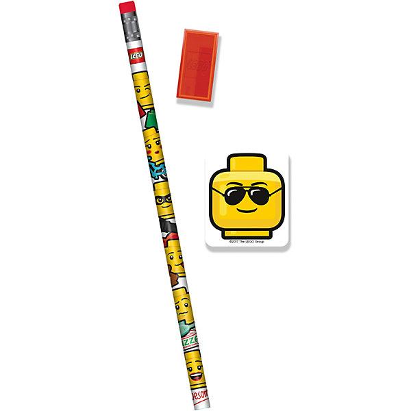 LEGO Канцелярский набор LEGO: 1 карандаш, 1 точилка, 1 ластик набор канцелярский stabilo стабило leftright для правшей 5 предметов ручка шариковая карандаш ластик точилка набор грифелей в блистере