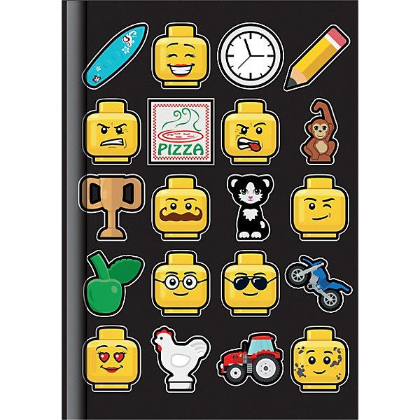 Книга для записей Lego, линейка, 96 листовБлокноты и ежедневники<br>Характеристики товара:<br><br>• материал: бумага<br>• серия: Iconic<br>• 96 листов в линейку<br>• размер: 14,8х20,9 см<br>• упаковка: плёнка<br>• страна бренда: Дания<br><br>Яркий блокнот декорирован принтом в виде мордочек Лего с различными эмоциями. В нём можно вести дневник, записывать свои мысли или достижения, использовать как черновик в школе и много другое.