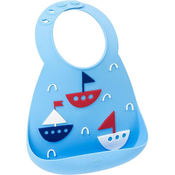 Нагрудник Baby Bib Boats, Голубой