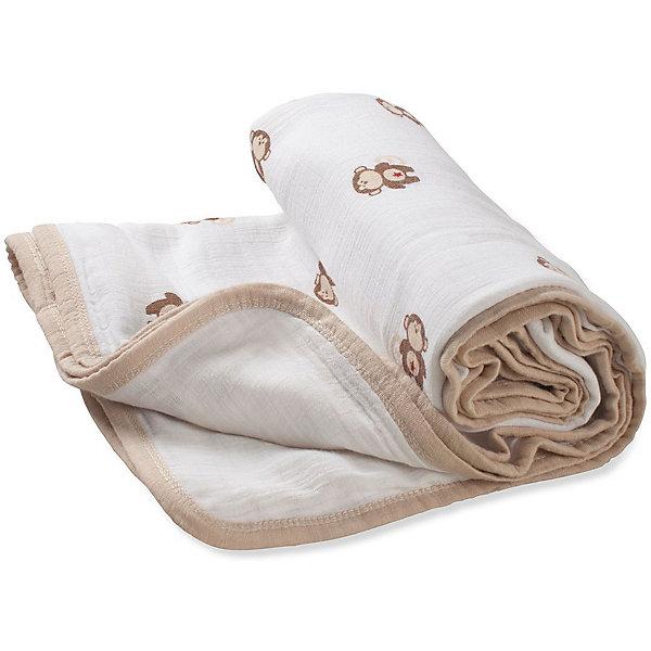 Одеяло из муслина Aden+anais 70х70 смОдеяла<br>Характеристики:<br><br>• материал: 100% хлопок<br>• ткань: муслин<br>• размер изделия: 70х70 см<br>• страна бренда: США<br><br>Двухслойное муслиновое одеяло с высокой воздухопронецаемостью и отличной теплороводимостью, которая подерживает комфортную температуру. Обладают высокой прочностью и подходят для регулярного использования.