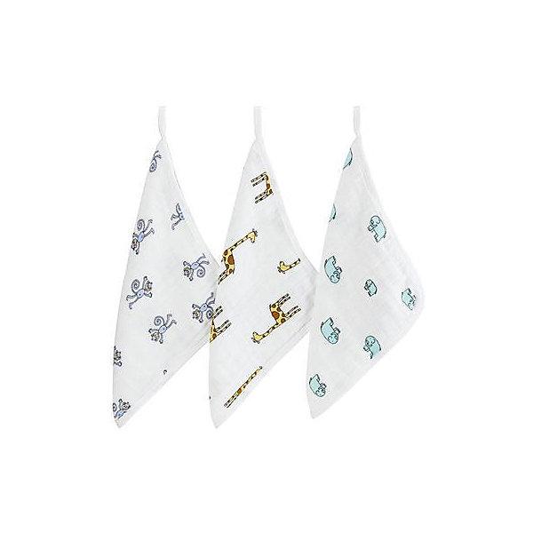 Набор муслиновых полотенец Aden+anais для лица и рук 30х30 см, 3 штуки