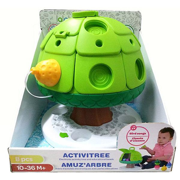 Lalaboom Развивающая игрушка Дерево со звуковыми эффектами, 7 предметов