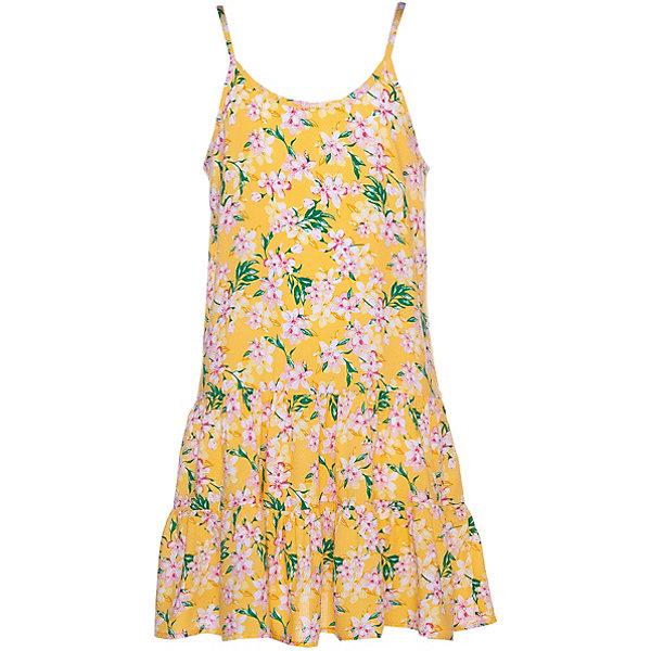Платье Name itПлатья и сарафаны<br>Характеристики товара:<br><br>• состав ткани: 100% вискоза<br>• сезон: лето<br>• застёжка: без застёжки<br>• платье без рукавов<br>• страна бренда: Дания<br><br>Платье на тонких бретельках изготовлено из лёгкого и тонкого материала. Свободный крой не стесняет при движении, ткань приятна на ощупь. Мягка окантовка по краям не натирает. Внизу отрезная юбка в складку. Декорировано принтом.
