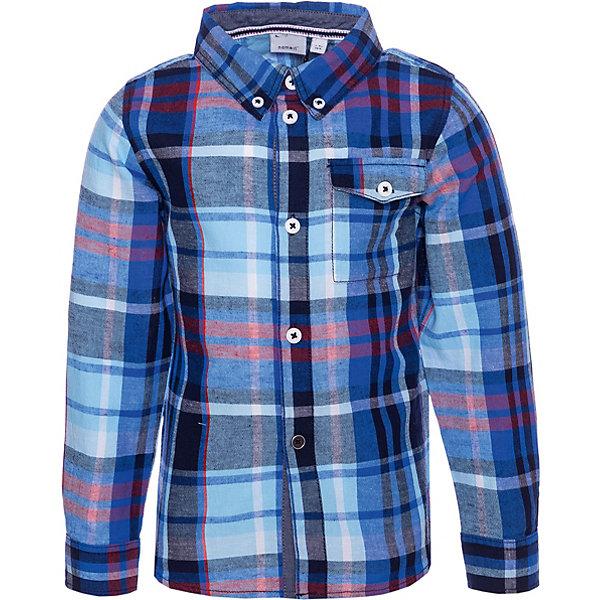 Купить Рубашка Name It, Бангладеш, темно-синий, 86, 110, 80, 92, 104, 98, Мужской