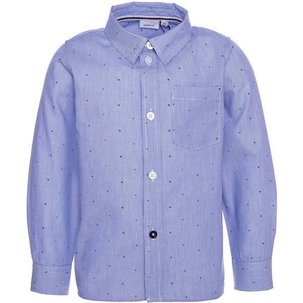 Купить Рубашка Name It, Бангладеш, темно-синий, 92, 86, 98, 104, 110, 80, Мужской