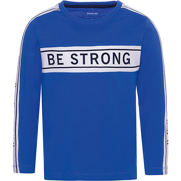 Купить Футболка с длинным рукавом Name it для мальчика, Бангладеш, синий, 104, 86, 98, 80, 92, 110, Мужской