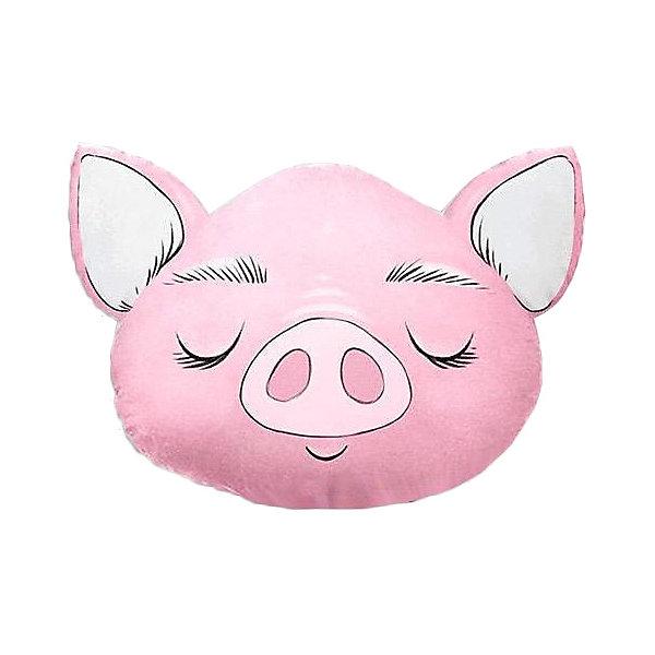 Ligrasweethome Подушка Ligra Свинка ручной работы, 50х55 см, розовая