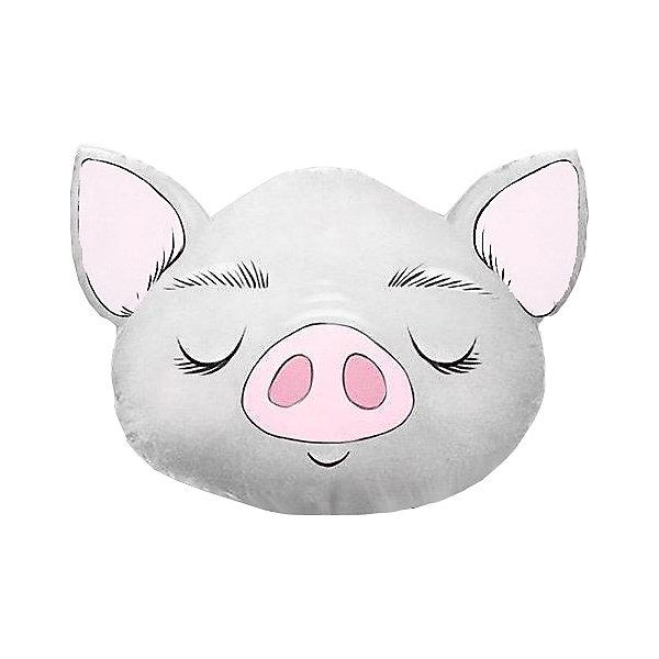 Ligrasweethome Подушка Ligra Свинка ручной работы, 50х55 см, серая