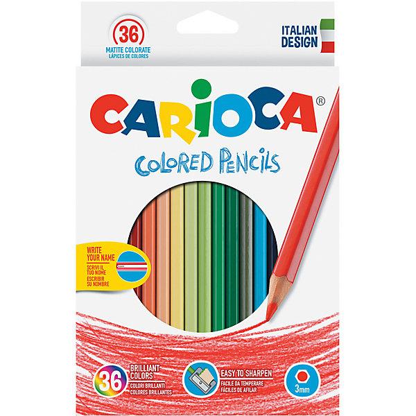 Carioca Набор цветных карандашей Carioca, 36 цветов набор карандашей carioca bicolor 43031 48 цветов 24 шт