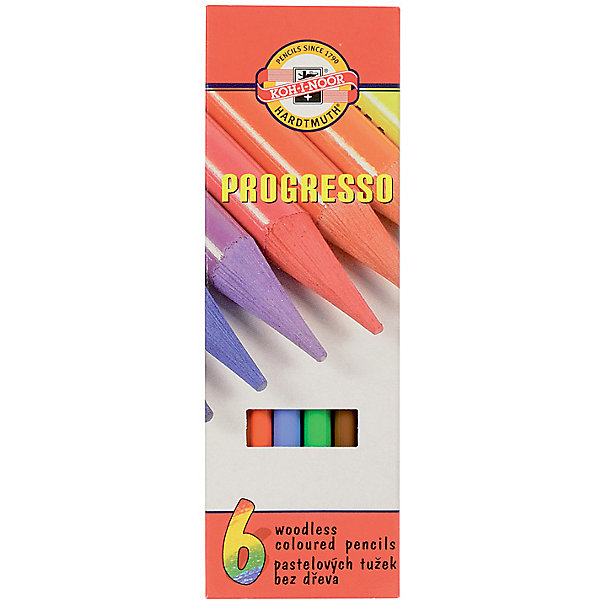 Koh-i-noor Набор цветных карандашей KOH-I-NOOR Progresso, 6 цветов