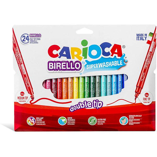 Carioca Набор двухсторонних фломастеров Carioca Birello, 24 цвета набор фломастеров birello двусторонних 24 цв в картонном конверте