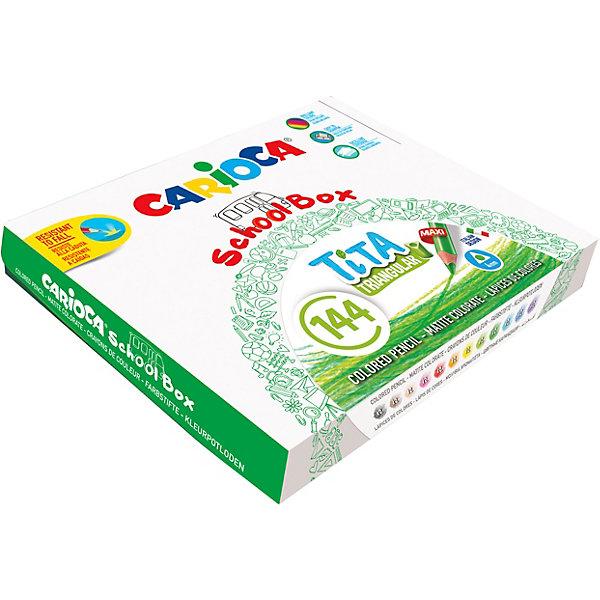 Carioca Набор цветных карандашей Carioca Tita 144 шт., 12 цветов набор карандашей carioca bicolor 43031 48 цветов 24 шт