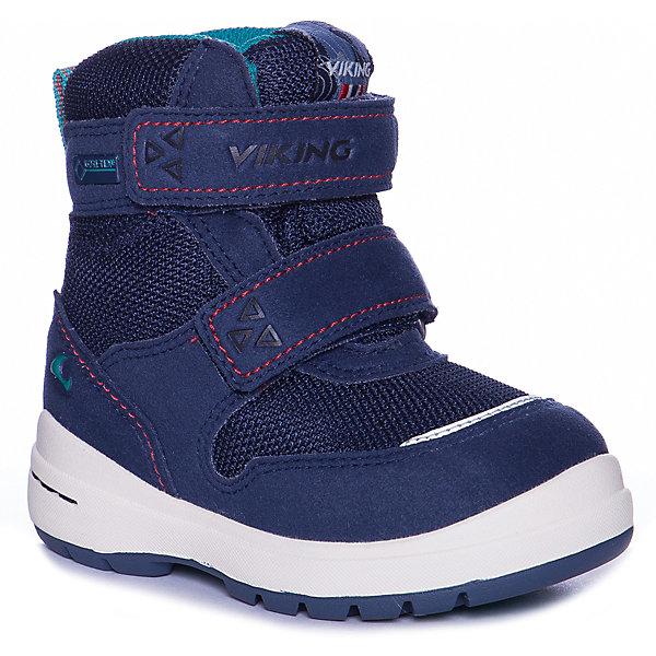 Утеплённые ботинки Viking Tokke GTXУтепленные<br>Характеристики товара:<br><br>• внешний материал: текстиль, кожа<br>• внутренний материал: текстиль, шерсть<br>• стелька: полиэстер, войлок<br>• подошва: натуральная резина<br>• сезон: зима<br>• мембранные <br>• температурный режим: от -25 до +5<br>• застежка: липучки<br>• защита мыса <br>• подошва не скользит<br>• анатомические<br>• высокие<br>• страна бренда: Норвегия<br>• страна изготовитель: Вьетнам<br><br>Ботинки с мембранным слоем GORE-TEX ®- это комфорт и тепло во время прогулки. Эти ботинки Viking не скользят из-за особого дизайна подошвы.