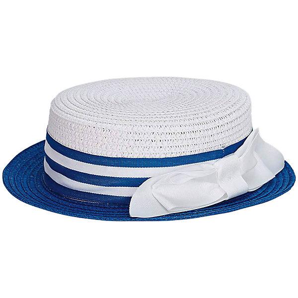 Шляпа Mayoral для девочкиГоловные уборы<br>Характеристики товара:<br><br>• состав ткани: 100% бумага<br>• сезон: лето<br>• страна бренда: Испания<br><br>Стильная шляпа с чуть загнутыми полями защищает от прямых солнечных лучей. Украшена полоской с цветными деталями и объёмным бантиком сбоку. Натуральный материал изделия хорошо пропускает воздух.
