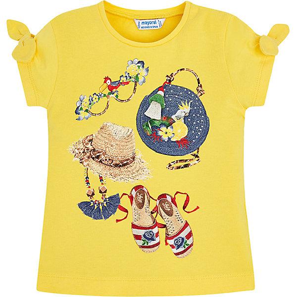 Купить Футболка Mayoral для девочки, Индия, желтый, 104, 122, 98, 110, 92, 134, 116, 128, Женский