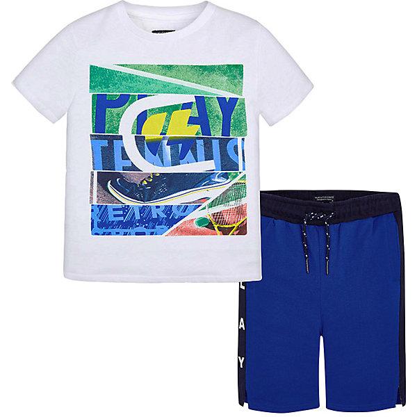 Купить Комплект Mayoral: футболка и шорты, Индия, синий, 161/166, 153/160, 134/140, 146/152, 128, 167/172, Мужской