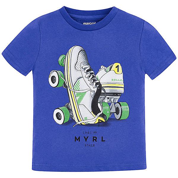 Купить Футболка Mayoral для мальчика, Индия, голубой, 116, 128, 104, 110, 134, 98, 122, 92, Мужской