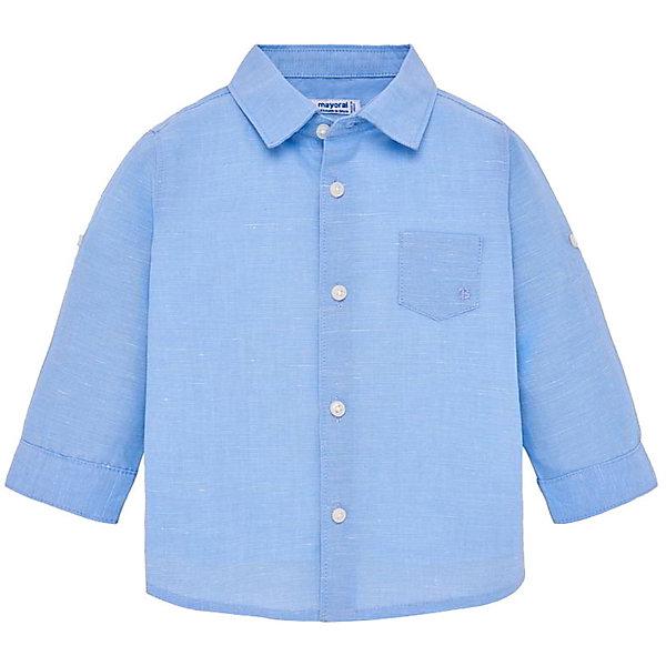 Купить Рубашка Mayoral для мальчика, Индия, голубой, 98, 92, 86, 80, Мужской