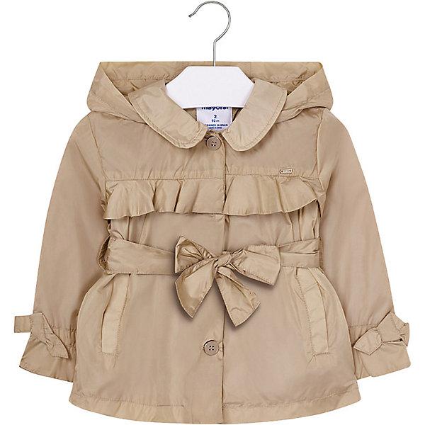 Купить Куртка Mayoral для девочки, Китай, бежевый, 134, 122, 104, 110, 98, 128, 116, 92, Женский