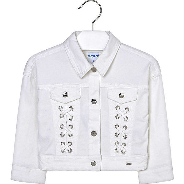 Купить Куртка Mayoral для девочки, Индия, белый, 110, 134, 116, 98, 122, 128, 104, Женский