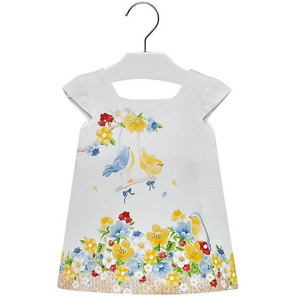 Купить Платье Mayoral для девочки, Индия, белый, 74, 92, 86, 80, 98, Женский