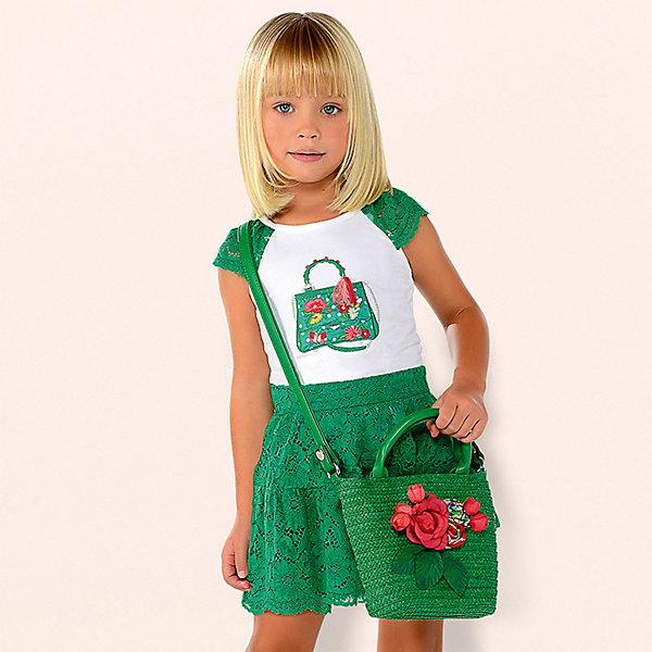 Купить со скидкой Комплект Mayoral: футболка и юбка