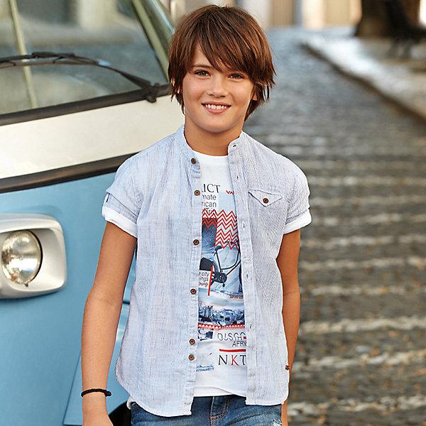 Купить Рубашка Mayoral для мальчика, Бангладеш, синий, 167/172, 128, 146/152, 134/140, 161/166, 153/160, Мужской