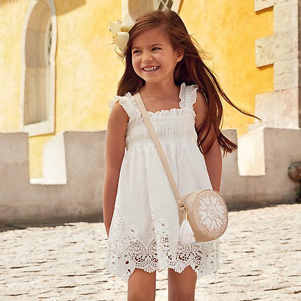 Купить Платье Mayoral для девочки, Китай, бежевый, 116, 122, 134, 104, 128, 110, 92, 98, Женский