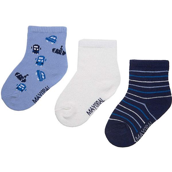 Купить Комплект: Носки 3шт. Mayoral для мальчика, Китай, голубой, 80, 92, Мужской
