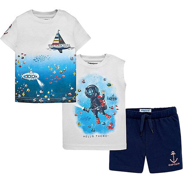 Mayoral Комплект Mayoral: футболка, майка и шорты mayoral mayoral комплект одежды шорты и футболка белый