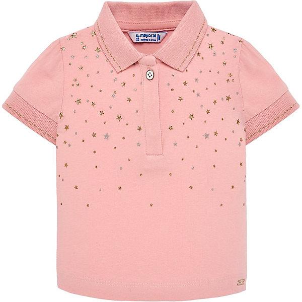 Купить Футболка-поло Mayoral для девочки, Индия, розовый, 80, 98, 92, 74, 86, Женский